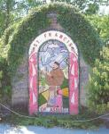 Well Dressing at Rowsley (from Well-Dressing in Derbyshire, 1991)